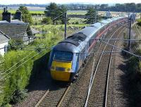 Kings Cross - Aberdeen HST passing the former station at East Fortune on 19 September.<br><br>[Bill Roberton&nbsp;19/8/2007]