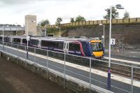 A Dundee - Edinburgh Waverley service about to leave Markinch on 20 September 2007.<br><br>[John Furnevel&nbsp;20/9/2007]