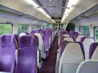 Interior of smartly refurbished DMU 158701. <br><br>[Brian Forbes&nbsp;22/09/2007]