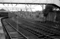 The remains of the yard and sidings at Helensburgh Central in 1974. In the right background stood the former Helensburgh shed (65H).  <br><br>[John McIntyre&nbsp;//1974]