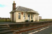 First stop south from Wick on the Wick and Lybster Light Railway was Thrumster. The old station building and a section of platform are now incorporated within a small park. August 2007.<br><br>[John Furnevel&nbsp;28/8/2007]
