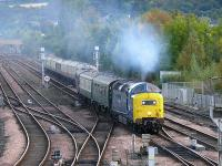The <I>Autumn Highlander</I>, Kings Cross to Inverness arriving at Perth. Loco 55022 <I>Royal Scots Grey</I>.<br><br>[Brian Forbes&nbsp;05/10/2007]