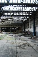 Inverurie locomotive works in derelict condition. The remaining buildings are being gutted, much of the northlight roof has been removed. The works relocated here from Kittybrewster early in the 20th century. Access by kind permission of contractor.<br><br>[Ewan Crawford&nbsp;06/10/2007]