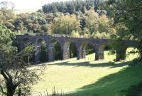 View southeast showing the old Firth Viaduct over the North Esk just to the east of Auchendinny on the Penicuik branch in October 2007. <br><br>[John Furnevel&nbsp;5/10/2007]