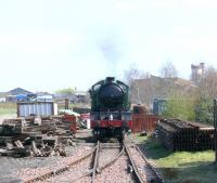 NBR Morayshire running around at Boness on a steam day in April 2007.<br><br>[Brian Forbes&nbsp;/04/2007]
