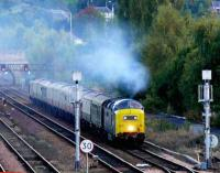 Deltic 55022 approaching Perth with a special on 6 October 2007.<br><br>[Brian Forbes&nbsp;6/10/2007]
