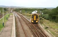 A train for Inverness comes off the Thurso line into Georgemas Junction on 28 August 2007.<br><br>[John Furnevel&nbsp;28/8/2007]