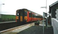 156503 stops at Barrhill with a Stranraer Harbour service in July 1998.<br><br>[David Panton&nbsp;/07/1998]