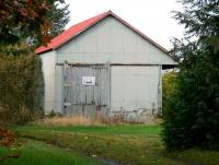 The former goods shed at Kippen on 11 October.<br><br>[John Furnevel&nbsp;11/10/2007]