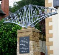 The Hamish Gilchrist memorial in South Queensferry to those killed during construction of the Forth Bridge - unveiled July 2007. <br><br>[John Furnevel&nbsp;22/07/2007]