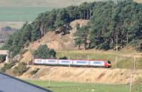 A southbound Virgin CrossCountry service approaching Crawford on 19 October 2007. This was the final month of the Virgin Trains CrossCountry franchise.<br><br>[John Furnevel&nbsp;19/10/2007]