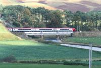 A southbound Voyager crosses the Clyde at Crawford - 19 October 2007.<br><br>[John Furnevel&nbsp;19/10/2007]