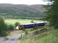 An Inverness bound train shortly after leaving Rogart on 26 August 2007.<br><br>[John Furnevel&nbsp;26/08/2007]