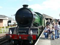 Centre of attraction, either the family or the green loco. Can anyone identify the dad and kids?<br><br>[Brian Forbes&nbsp;/04/2007]