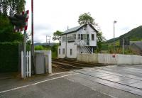View from the north side of the level crossing over Ford Road, Blair Atholl, in August 2007.<br><br>[John Furnevel&nbsp;25/08/2007]