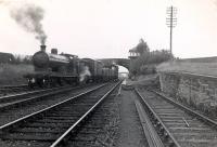 Passing Kirriemuir Junction. C.R. 4.4.0 54454 on Forfar to Kirriemuir goods train.
