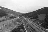 The passing loop at Slochd summit seen in April 1979.<br><br>[John McIntyre&nbsp;/04/1979]