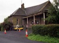 Station approach at Bridge of Dun in August 1992.<br><br>[John McIntyre&nbsp;09/08/1992]