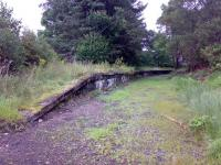 The platform at Ballachulish Ferry in September 2007 looking east towards Ballachulish terminus.<br><br>[Alasdair Mulhern&nbsp;04/09/2007]