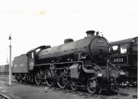 Thompson Class B1 61350 on shed at Keith on 17th May 1952. Photograph by AC Roberts.<br><br>[Graham Morgan Collection&nbsp;17/05/1952]