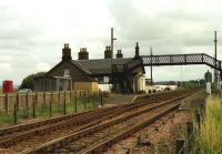 Looking towards Dundee from Errol level crossing in August 1992. <br><br>[John McIntyre&nbsp;10/08/1992]