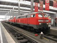 A Zurich to Munich service arrives at Munich HBF in October 2007.<br><br>[Michael Gibb&nbsp;27/10/2007]