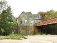 The former booking office and parcels office at Gleneagles.Both ends of the bridge have been sealed off and the building is a private house.<br><br>[John Gray&nbsp;18/10/2007]