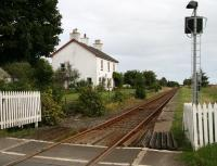 Standing on the open level crossing at the former Watten station in August 2007 looking towards Wick.<br><br>[John Furnevel&nbsp;28/08/2007]