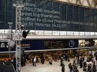 The western concourse at Waterloo and entrance to the International platforms on 13 November 2007 - the station's final day as a Eurostar terminus.<br><br>[Michael Gibb&nbsp;13/11/2007]