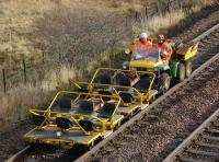 Close up of the works special passing Dalnacardoch on 15 November. <br><br>[Bill Roberton&nbsp;15/11/2007]