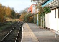 A shadow of its former self. Buffer stops at Bishop Auckland station on 4 November 2007. The tracks of the Wear Valley line can be seen on the far left.<br><br>[John Furnevel 04/11/2007]