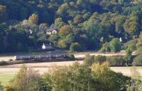Dalguise in Highland Perthshire. The 1335 Edinburgh to Inverness is caught passing in harvest sun.<br><br>[Brian Forbes /10/2007]