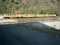 <B>LittleYellow</B> Train is a tourist train running from Villefranche-sur-Conflent to la Tour-de-Carol in the Pyrenees Oriental.<br><br>[Alistair MacKenzie 16/10/2007]