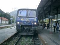 <B>LittleYellow</B> Train. Transfer at Villefranche-sur-Conflent Station to Little Yellow Train.<br><br>[Alistair MacKenzie 16/10/2007]