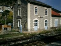 <B>Olette </B> Station - request stop on the SNCF Little Yellow Train.<br><br>[Alistair MacKenzie 16/10/2007]