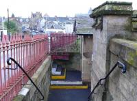 Entrance to southbound platform at Cupar. This is as it was built in 1847, with the steps and risers renewed. 160 years of inconveniance for the disabled.<br><br>[Brian Forbes&nbsp;//2007]