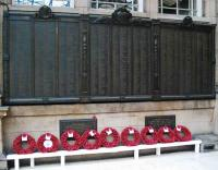 The North British Railway Roll of Honour at Waverley on 17 November, suitably adorned.<br><br>[Ewan Crawford&nbsp;17/11/2007]
