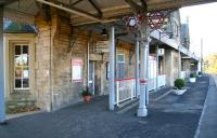 The attractive southbound platform at Morpeth on 8 November looking towards Newcastle.<br><br>[John Furnevel&nbsp;08/11/2007]