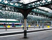 Awaiting attention - view northeast from platform 19 across Waverley west end on 17 November showing the framework and supports of the various canopies due for refurbishment.<br><br>[Ewan Crawford&nbsp;17/11/2007]