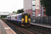 A 156 on a Barrhead service arrives at Crossmyloof on 8 September.<br><br>[David Panton&nbsp;08/09/2007]