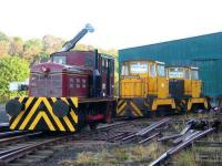 The new arrivals at the <I>Shed 47</I> site at Lathalmond pose alongside the Fowler diesel on 18 November - see news item.<br><br>[Grant Robertson&nbsp;18/11/2007]