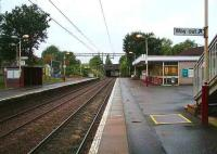 View west at Scotstounhill station on Sunday morning 23 September 2007.<br><br>[John Furnevel&nbsp;/09/2007]