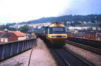 An InterCity 125 HST leaves Bath in 1985.<br><br>[John McIntyre&nbsp;//1985]