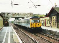305 517 arrives at Drem with a train for North Berwick<br><br>[David Panton&nbsp;//]