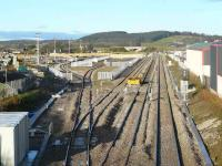View over the ongoing work at Raiths Farm, Dyce on 2 December where the various sidings and loops have not yet been brought into use. The main Aberdeen - Inverness line is now on the far right of the picture. [see image 30688]<br><br>[John Williamson&nbsp;02/12/2007]