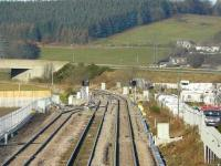 Looking northwest beyond the Raiths Farm development towards the end of the new loops on 2 December. The main line is now on the right. <br><br>[John Williamson&nbsp;02/12/2007]