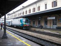 A Milan bound train complete with graffiti arrives at Domodossola.<br><br>[Michael Gibb&nbsp;22/11/2007]