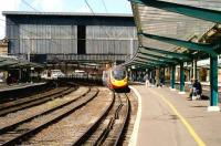 A southbound Pendolino arrives at Carlisle on 19 September 2006.<br><br>[John McIntyre&nbsp;19/09/2006]