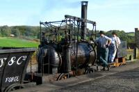 Scene at Beamish on 18 October 2006 as ye crew of William Hedleys 1813 <I>Puffing Billy</I> replica prepares for the next tour of duty. <br><br>[John McIntyre&nbsp;18/10/2006]