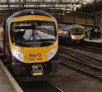 First TransPennine services for Manchester Airport and Edinburgh Waverley meet at Carlisle on 12 December - both on schedule.<br><br>[Brian Smith&nbsp;12/12/2007]